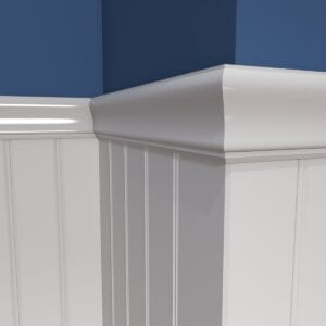 2420 Chair Rail with V-bead 2-5 inch Panel