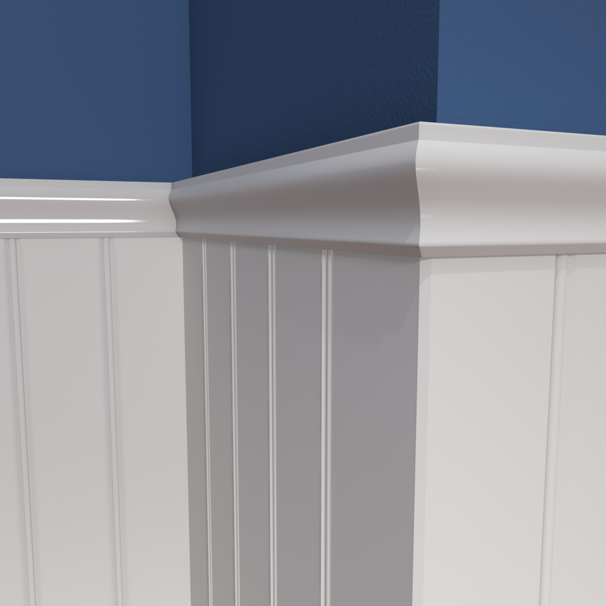 CR306 Chair Rail with V-bead 2-5 Inch Panel