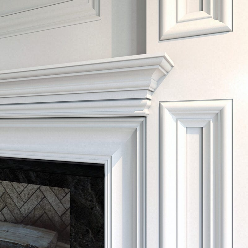 Moulding and Mantel